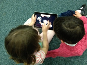 Certain collaborative projects work beautifully with shared iPads